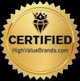 high value brand certified logo